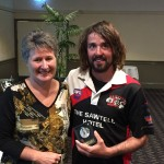 Heather Coutts presents Lachie Draper-Bell with the Reserves B&F Runner-up